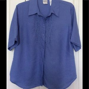 Emma James Tops - NEW WITHOUT TAG Women BLOUSE TOP PERIWINKLE COLOR