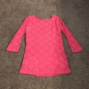 Tops - Pink 3/4 Sleeve Top