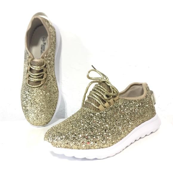 Pierre Dumas Platinum Gold Glitter Sneaker 26a90ef9fe