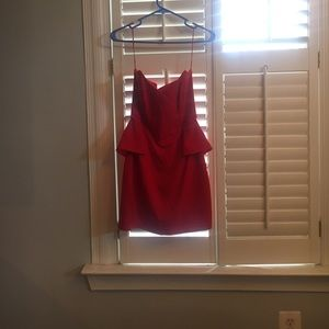 Red strapless dress (never worn)