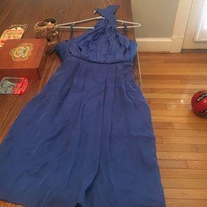 Never worn blue halter top dress