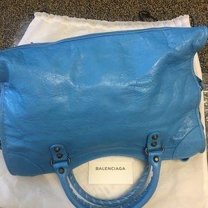 Balenciaga Bags - New Balenciaga Classic City Lambskin Tote Bag Blue