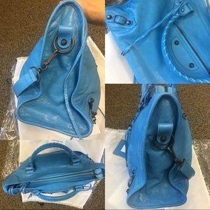 Balenciaga Bags - NWT Balenciaga Classic City Lambskin Tote Bag Blue