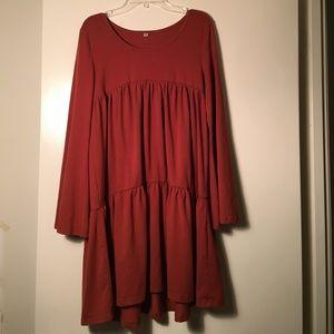 Dresses & Skirts - Burnt Orange Tiered Dress