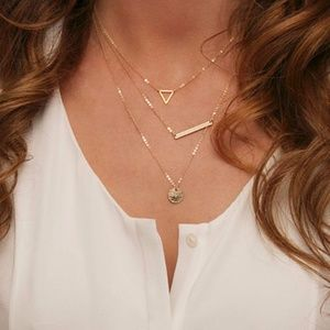 Jewelry - Delicate Gold Three-Layer Necklace