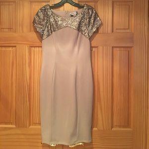 ASOS Elise Ryan Sequin Top Pencil Dress