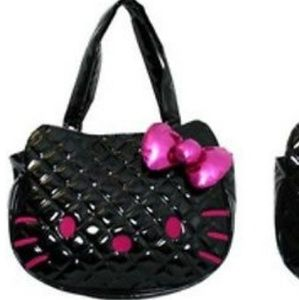 3a8879e46650 Sanrio Bags - New HELLO KITTY BLACK PATENT LARGE FACE TOTE PURSE