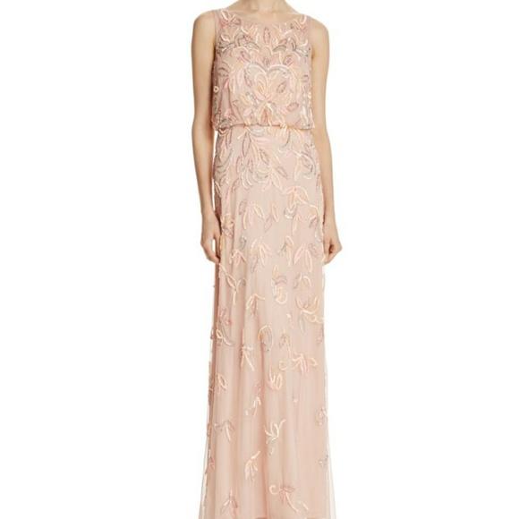 Adrianna Papell Dresses A D R I A N N A P A P E L L Blush Sequin