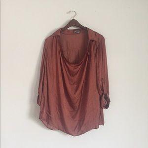 vince scoopneck blouse size 6