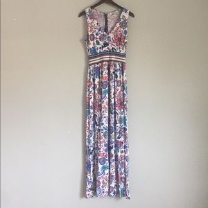 milly for design nation floral maxi dress size M