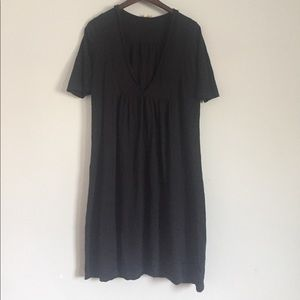 pure jill vneck hooded dress size S