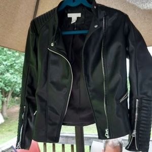 H & M Faux leather jacket womens
