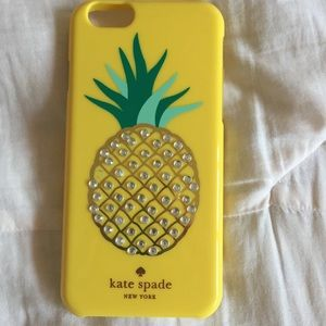 Accessories - Kate Spade pineapple iPhone 6 case