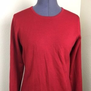 Charter Club Red Wool Sweater