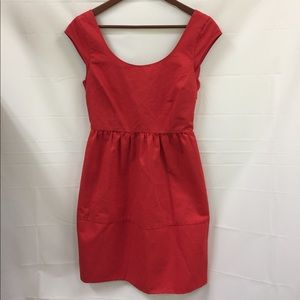 American eagle outfitters red bow dress size 0