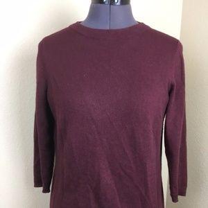 Talbots Burgundy 3/4 Sleeve Sweater