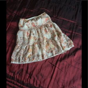 Other - Paisley tier skirt