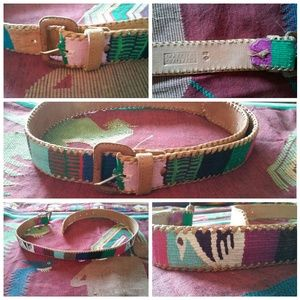 Accessories - Boho Belt Guatemalan Leather NWOT