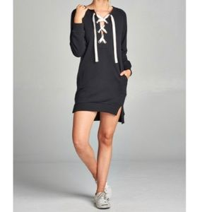 Dresses & Skirts - 🆕 black French terry tunic dress