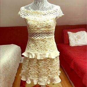 Gorgeous rare find lace/crochet dress