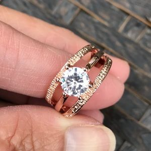 Jewelry - 18K Rose Gold Plated Engagement Wedding Ring
