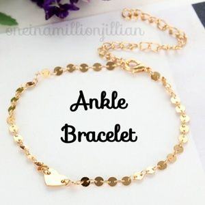 Jewelry - Dainty Golden Heart Anklet / Ankle Bracelet