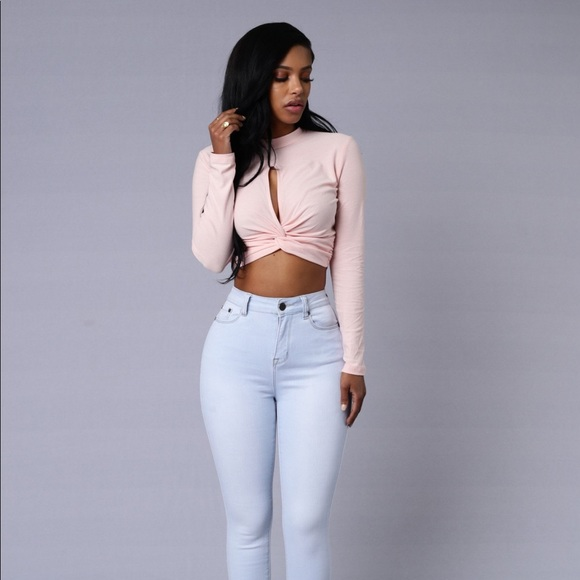 27155467620aed New Fashion Nova Pink Twisted Crop Top