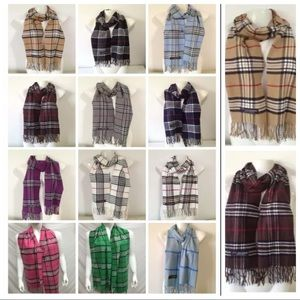 Other - Cozy & Classy 100% Cashmere plaid scarves! Unisex!
