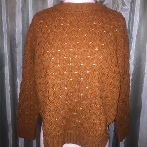 Sweaters - Burnt Orange Knit Sweater