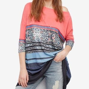 NWT Free People Steppin Out tunic tee