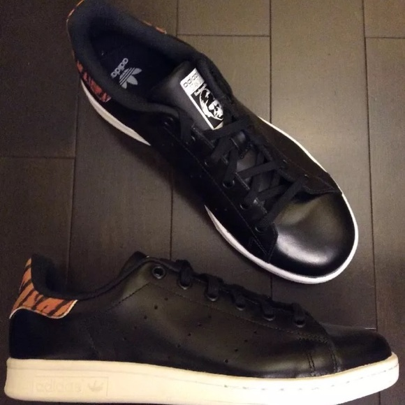 adidas Originals Stan Smith Black Leopard. Kids NWT