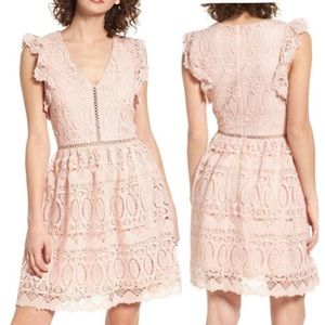 🎉Host Pick❌Pink Lace Fit and Flare Dress ❌