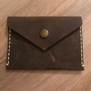 Accessories - Brown Leather Card Holder