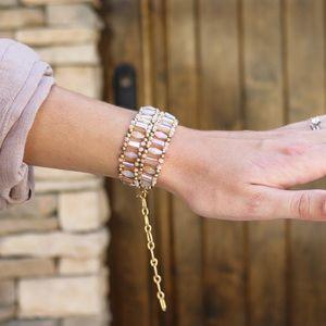 natural beaded bracelet/choker