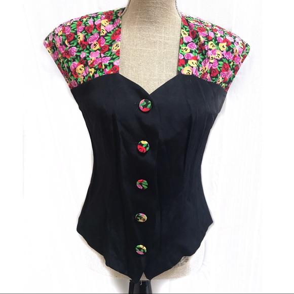Vintage Tops - Vintage 90's Floral blouse