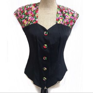 Vintage 90's Floral blouse