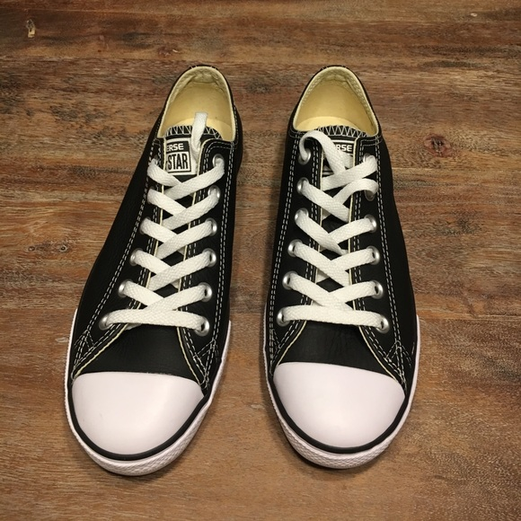 Converse Shoes | Never Worn Converse Lean Ox Low Top Black Leather ...