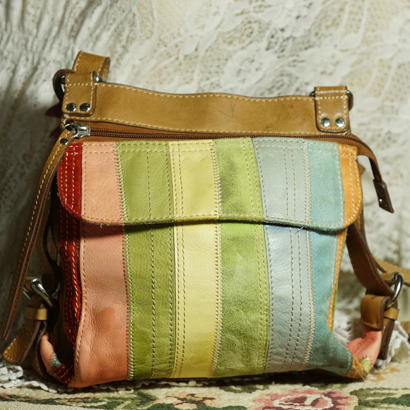 FOSSIL Handbags - VINTAGE FOSSIL LEATHER SUEDE Crossbody Messenger 62a61e083dce5