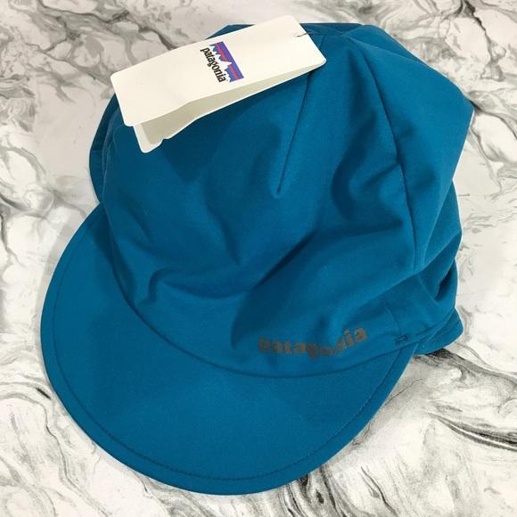 NWT Patagonia Wind Shield Blue Beanie Hat Sz S 4ea532f5f777