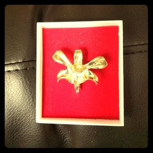 Accessories - 24K Gold Plated Orchid Necklace Charm