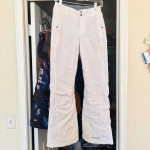 Columbia White Ski Pants