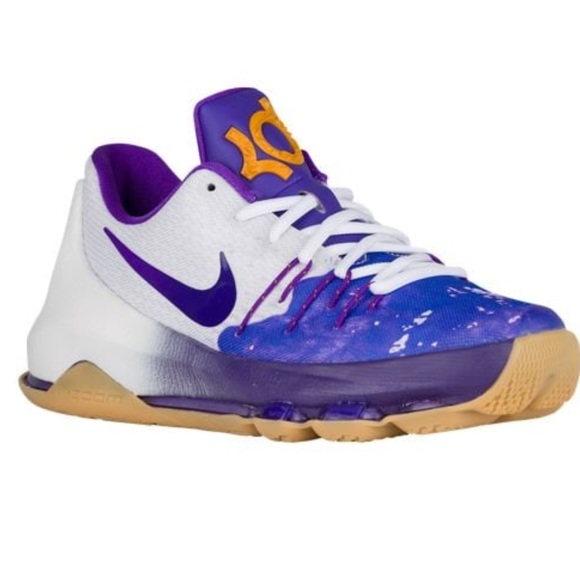 61c0ec84923 NEW rare Nike Purple and white sneaker kD youth