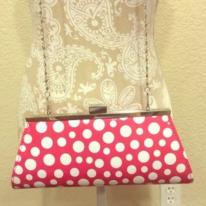 Neiman Marcus Red w/ white polka dots cross-body