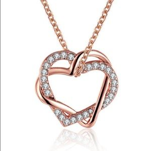 Jewelry - Beautiful Gold Filled Double Heart  Breen Necklace