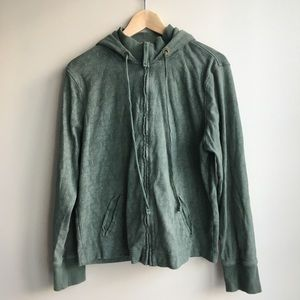 Merona hooded jacket full zip front xxl army green