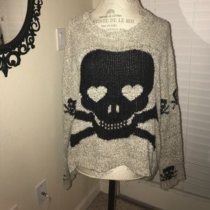 Slouchy Skull Sweater