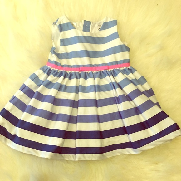 c0c2807a1 Carter's Dresses | Carters Baby Girl Blue White Striped Dress 3 Mo ...