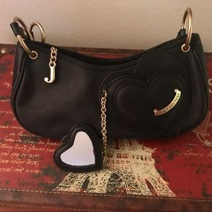 JUICY COUTURE Leather Bag w/ Heart Mirror