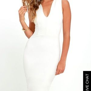Lm Lulu Dresses - White fitted dress