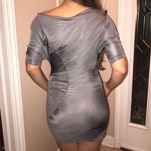 Black Halo Dresses - Gray cocktail dress